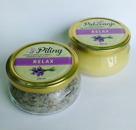 Herbateria - Set za manikir (piling 200ml + pakovanje 200 ml)