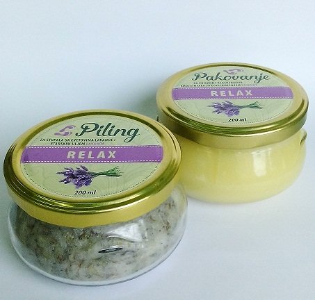 Herbateria - Set za pedikir (piling 200 ml + pakovanje 200 ml) 00360