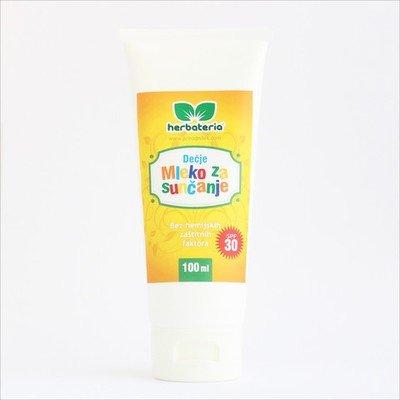 Herbateria - Mleko za sunčanje za decu SPF 30