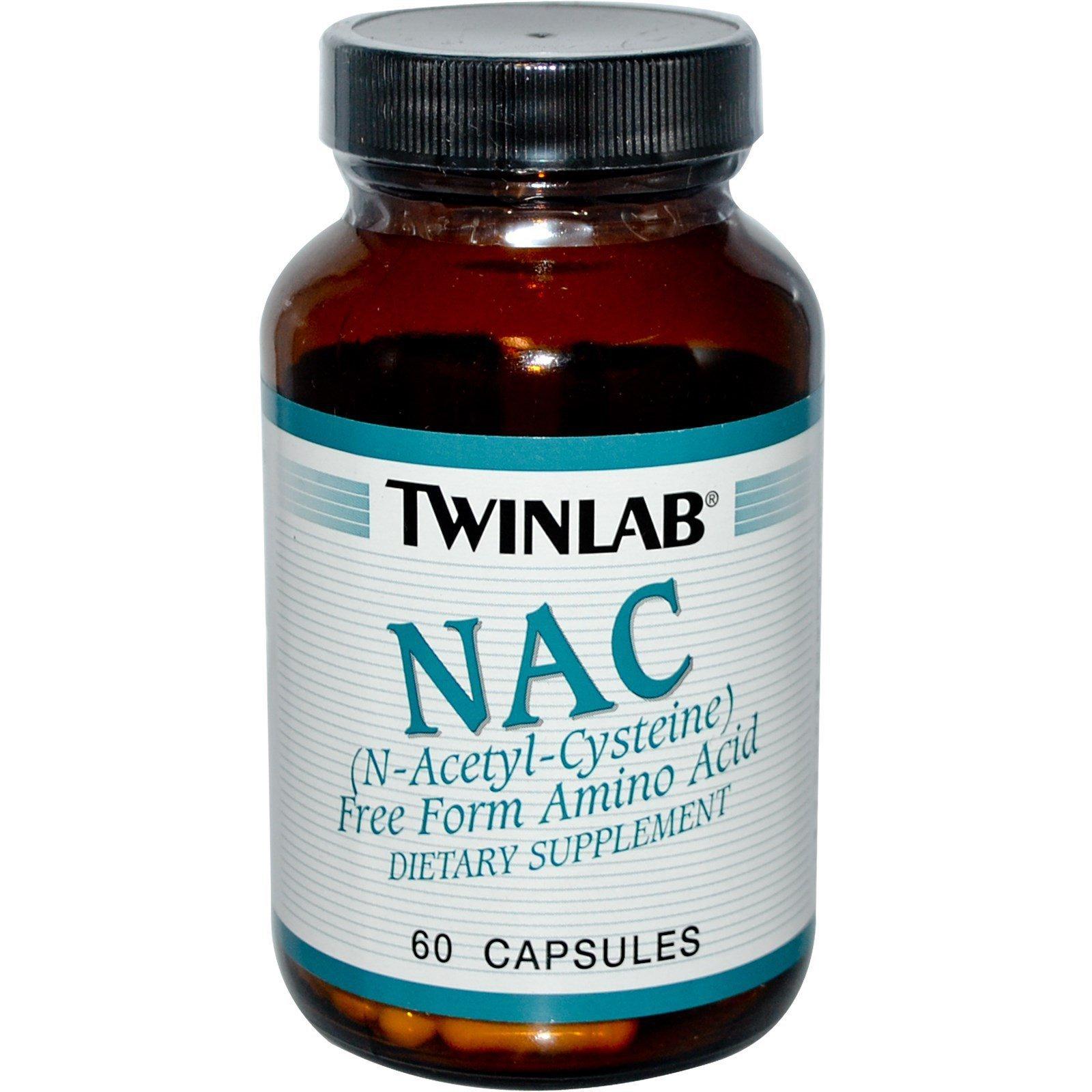 Twinlab NAC Fuel (N-acetil cistein) 600 mg  - 60 kapsula 00229