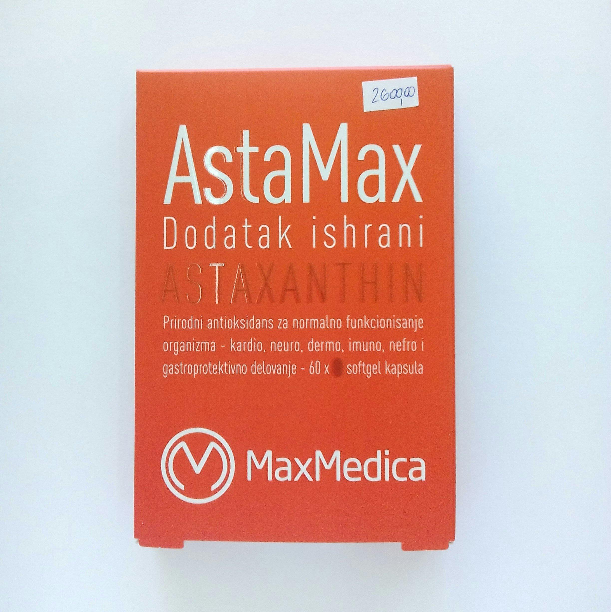 AstaMax (astaksantin) 60 kps 00370