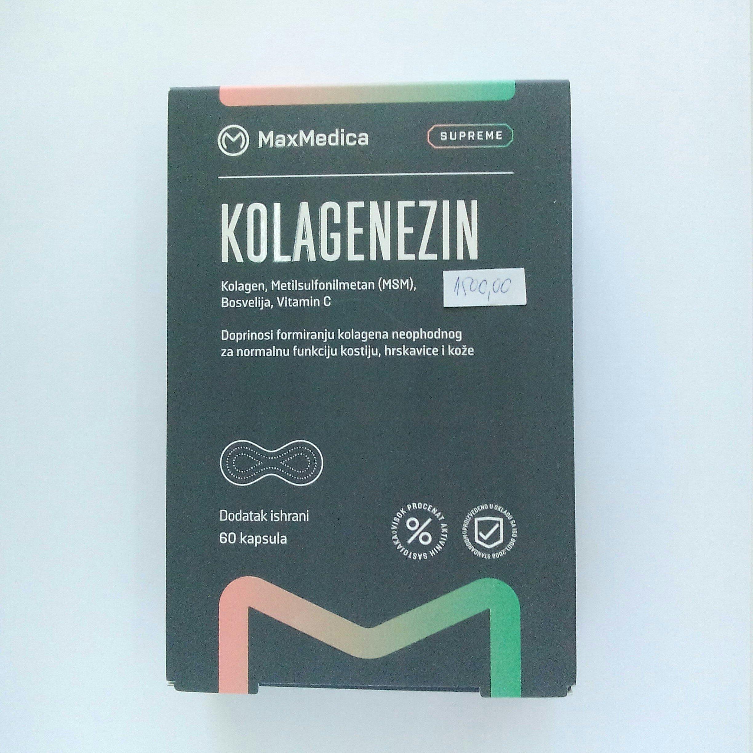 Kolagenezin (kolagen, MSM, Bosvelija, vit C) 60 kps 00371