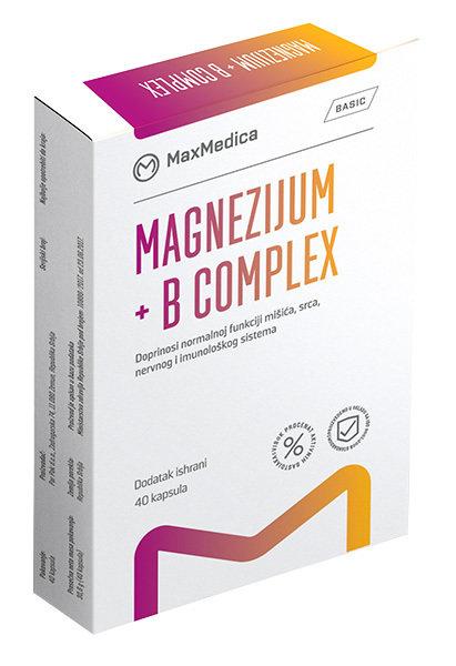 Mg 375 mg + B complex - 40 kapsula