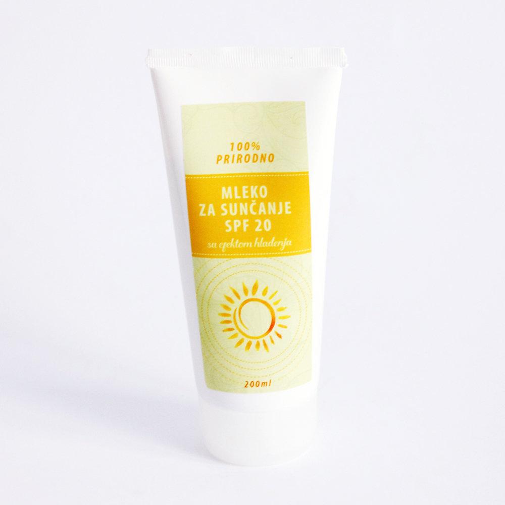 Herbateria - Mleko za sunčanje SPF 20 sa efektom hlađenja 100 ml / 200 ml 00421