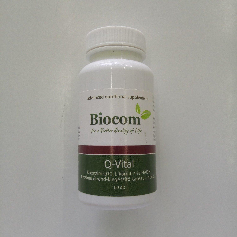 Biocom Q-Vital (L-karnitin, D-riboza, koenzim Q10, NADH) 60 kps