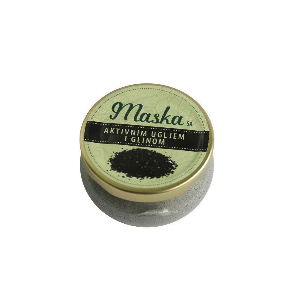 Herbateria - Maska sa aktivnim ugljem i glinom 100 ml