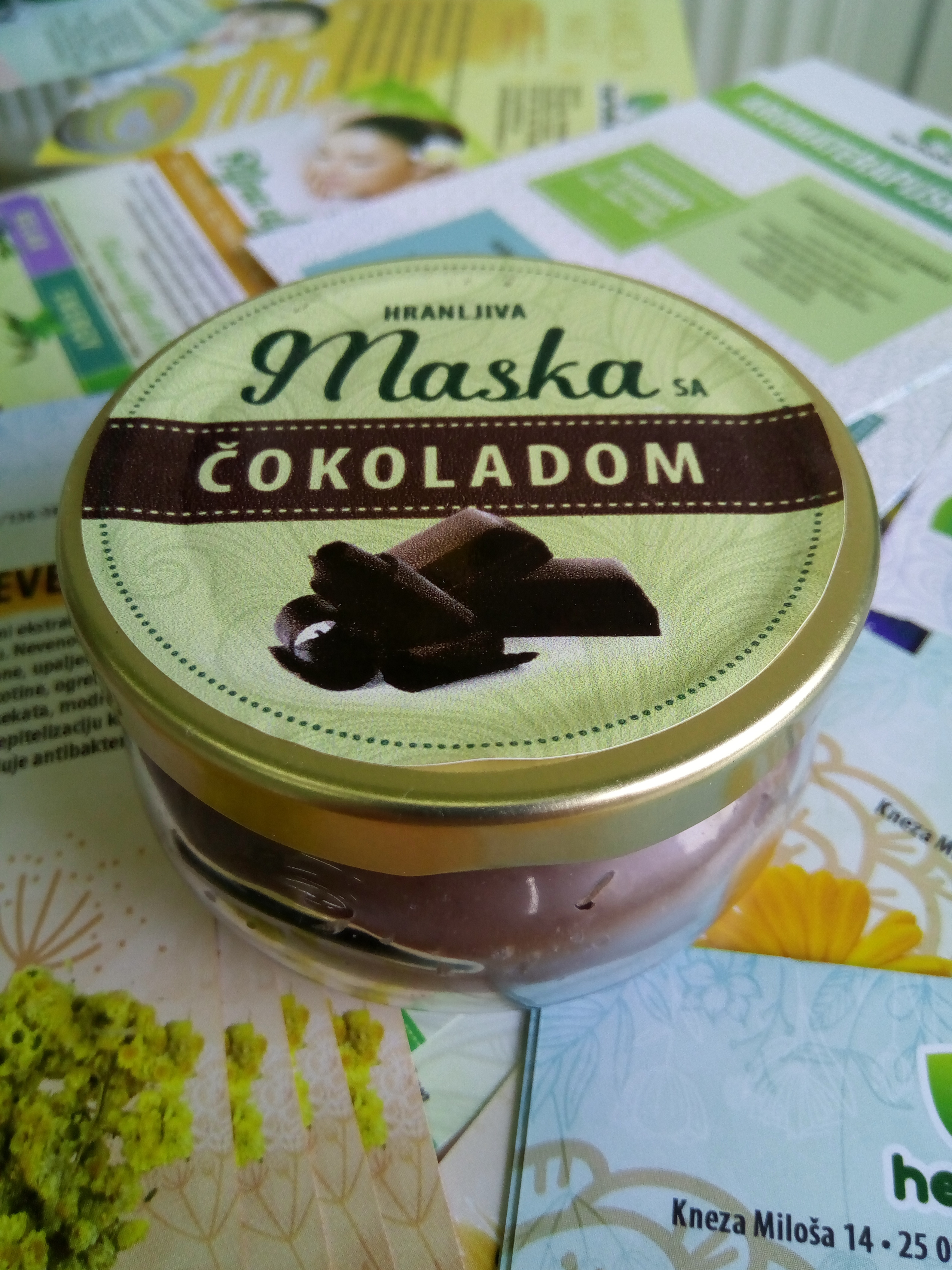 Poklon set (hranljiva maska 100 ml, stik za usne)