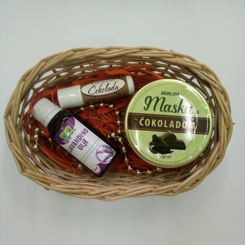 Poklon set (lavandino ulje 30 ml, stik za usne, hranljiva maska 100 ml)