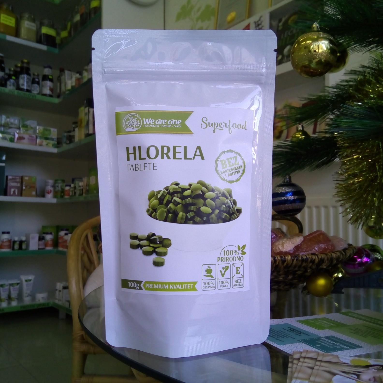 WAO Hlorela tablete 100 g 00255