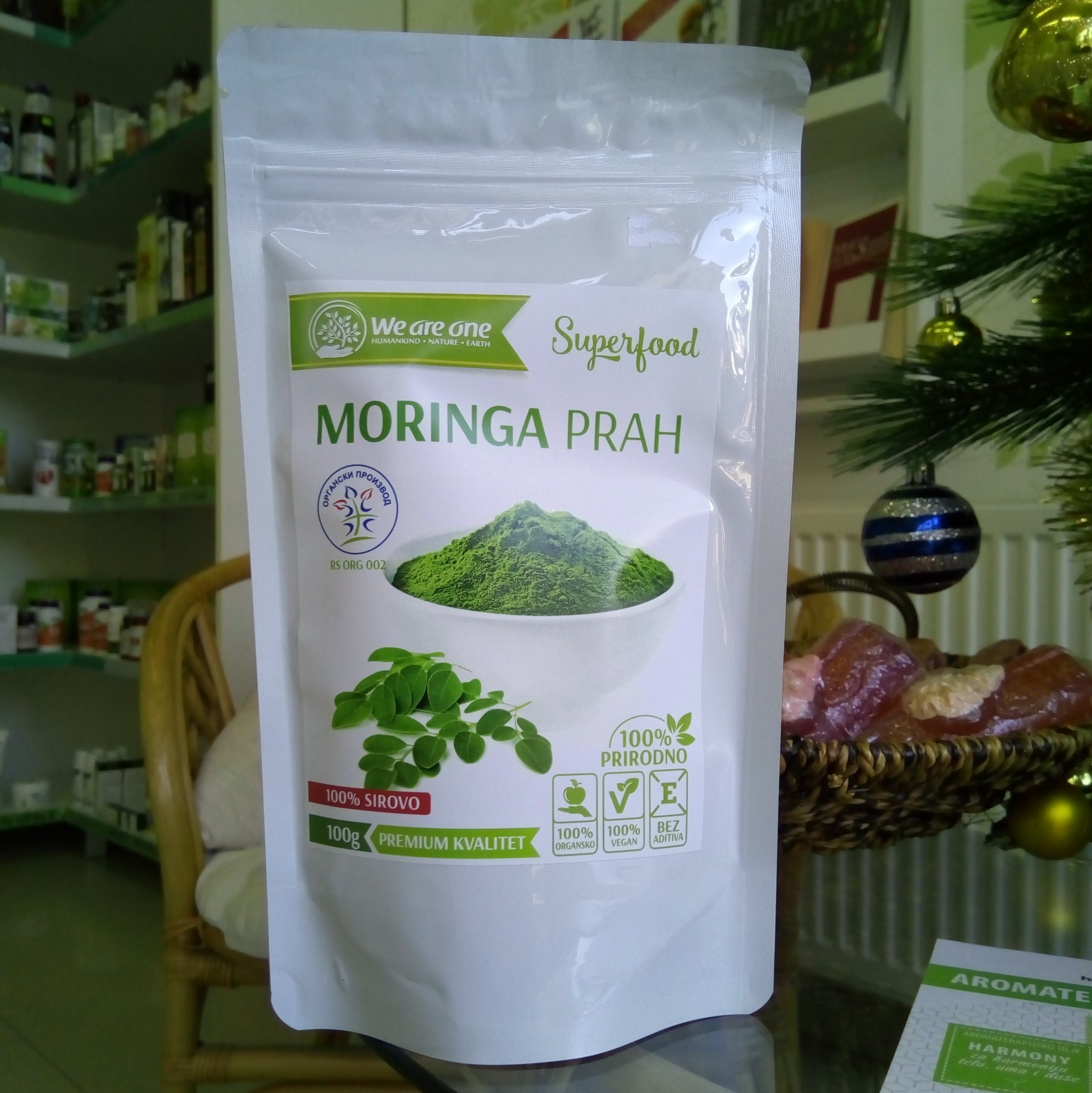 WAO Moringa prah 100 g 00472