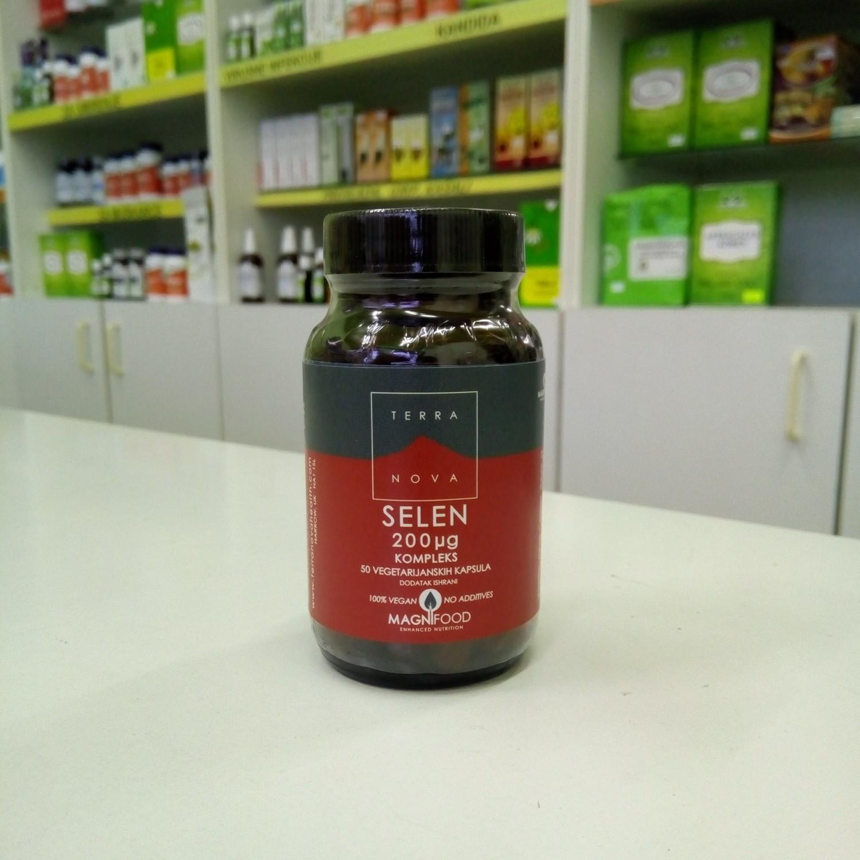 Terranova Selen (selenometionin) 200 mcg 50 kps