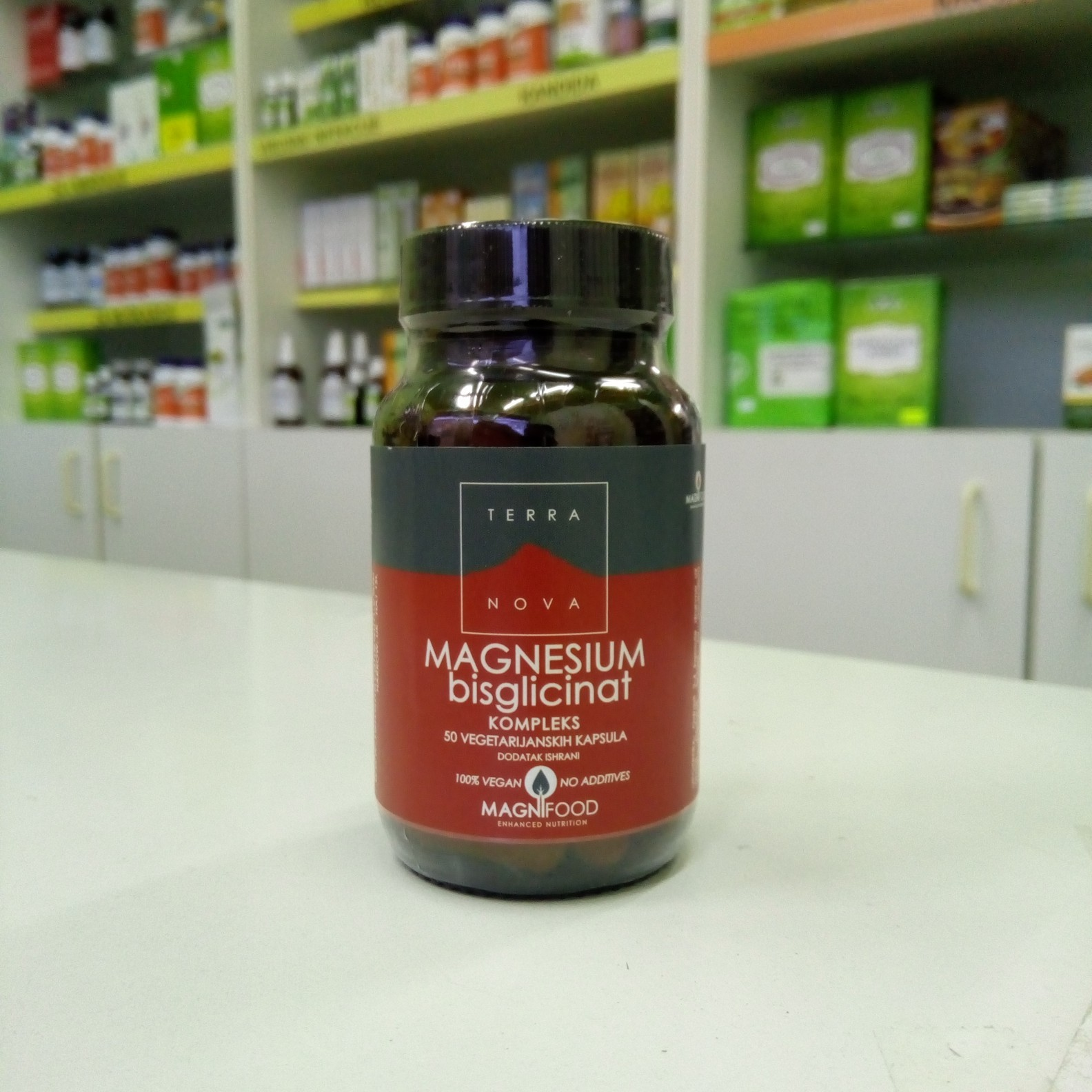 Terranova Magnezijum bisglicinat 100 mg 50 kps 00474
