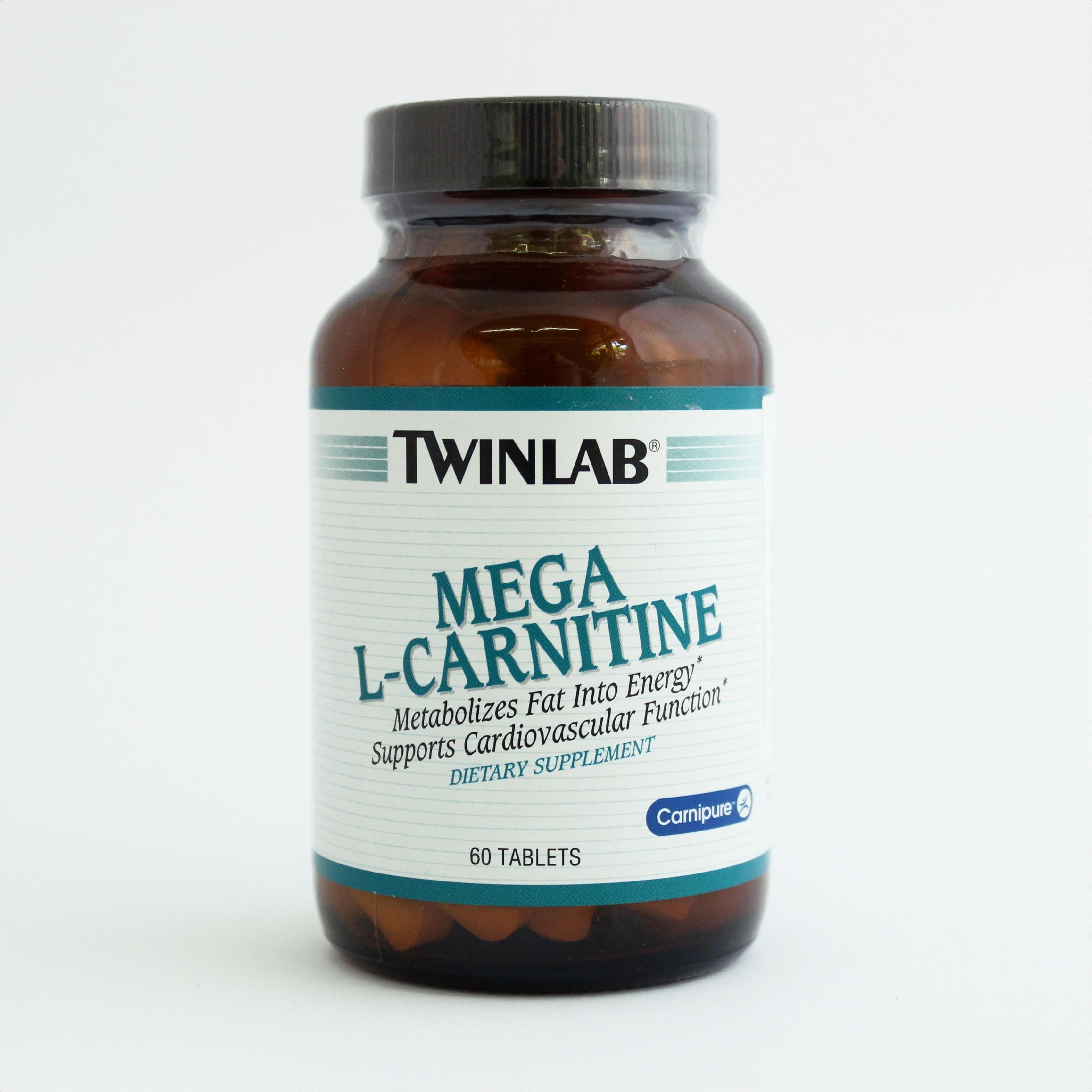 Twinlab Mega L-carnitine 500 mg 60 tbl 00227