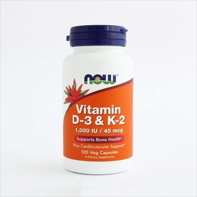 Now Vitamin D-3 & K-2 1000 IU- za jake kosti  (120 kapsula)