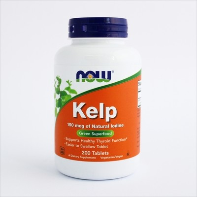 Now Morske alge kelp (Sea Kelp),150 mcg,  200 tableta