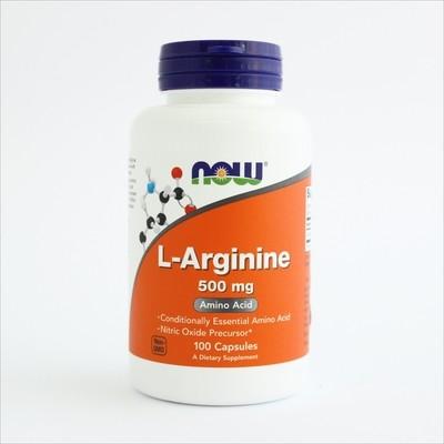Now L-arginin 500 mg -100 kapsula