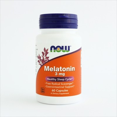 Now Melatonin 3 mg - 60 kapsula