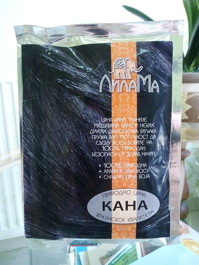 Prirodna kana za kosu bez hemikalija crna 100 g