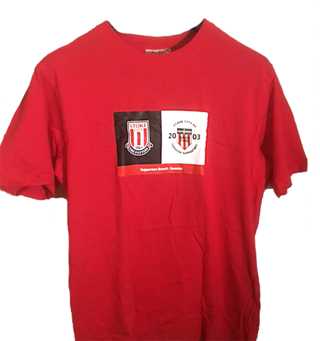 T-shirt Röd - Large t-0001
