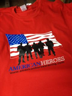 American Heroes Red T-Shirts