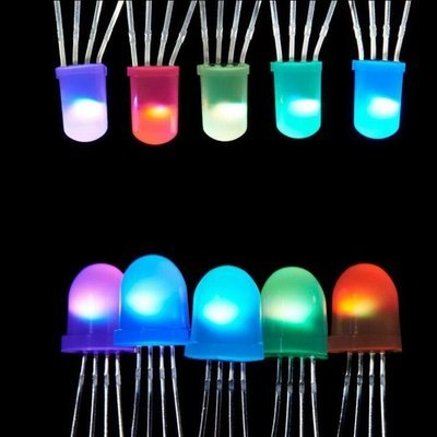 WS2812B Diffused 5mm Through-Hole LED (NeoPixel) 5 Pack