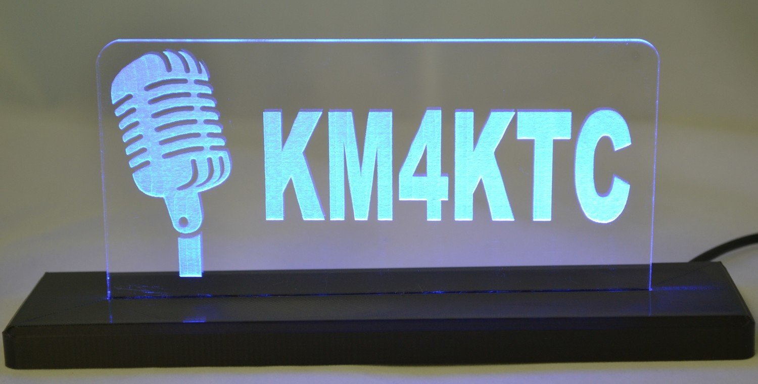 Retro Mic LED Desktop Sign