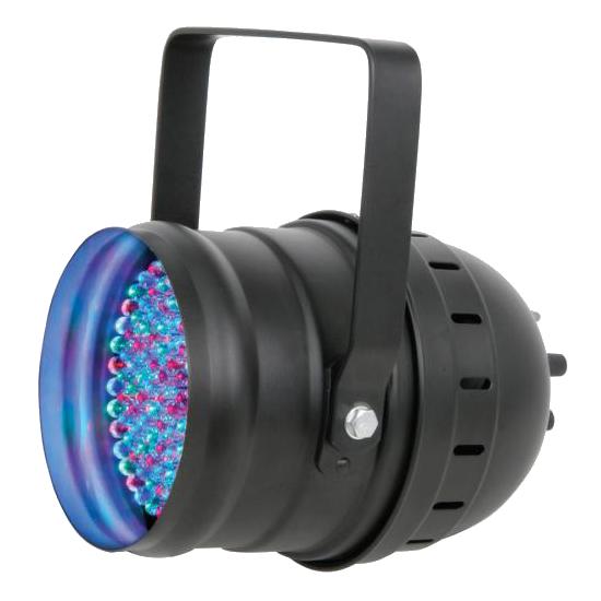 LED Floor or hanging PAR 64 Can Black