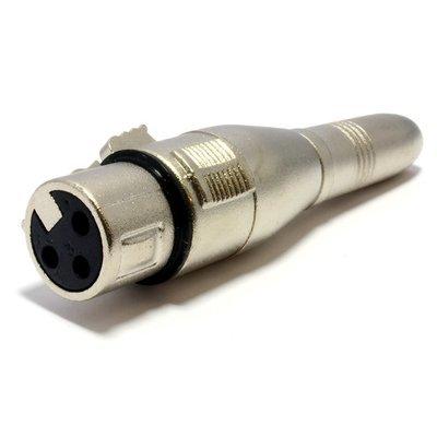 XLR 6.35mm 1/4 inch Mono Jack Socket to XLR Female Connector Adapter