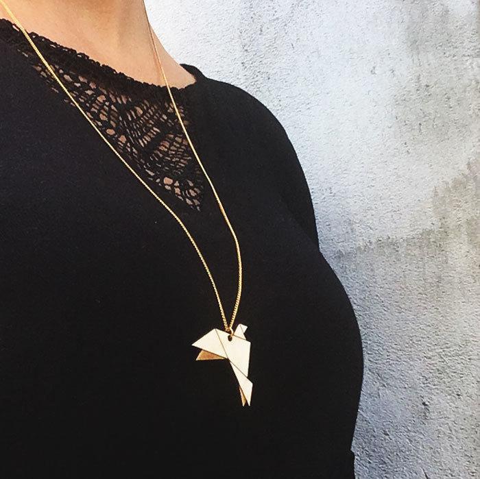 Origami / Wood / Dove / Chain / Nature
