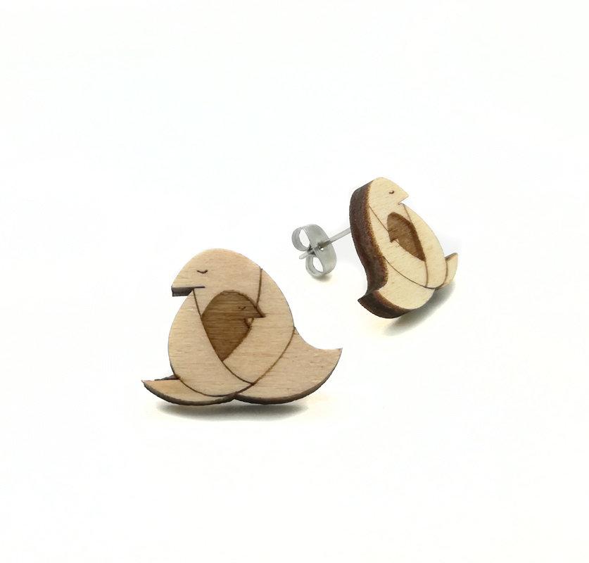 Origami / Wood / Motherhugger / Nature / Small