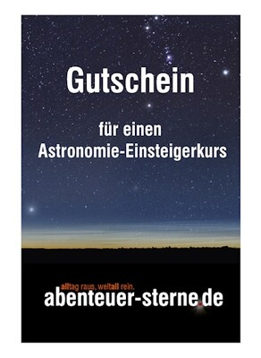 Gutschein für einen Astronomie-Einsteigerkurs (Chiemsee)