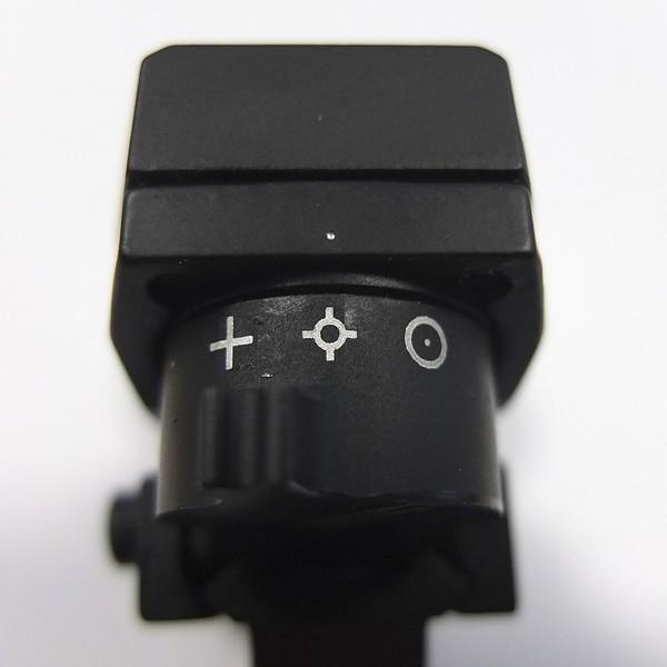 4 Leuchtsymbole zur freien Auswahl. Die Standardeinstellung ergibt einen kleinen roten Lichtpunkt
