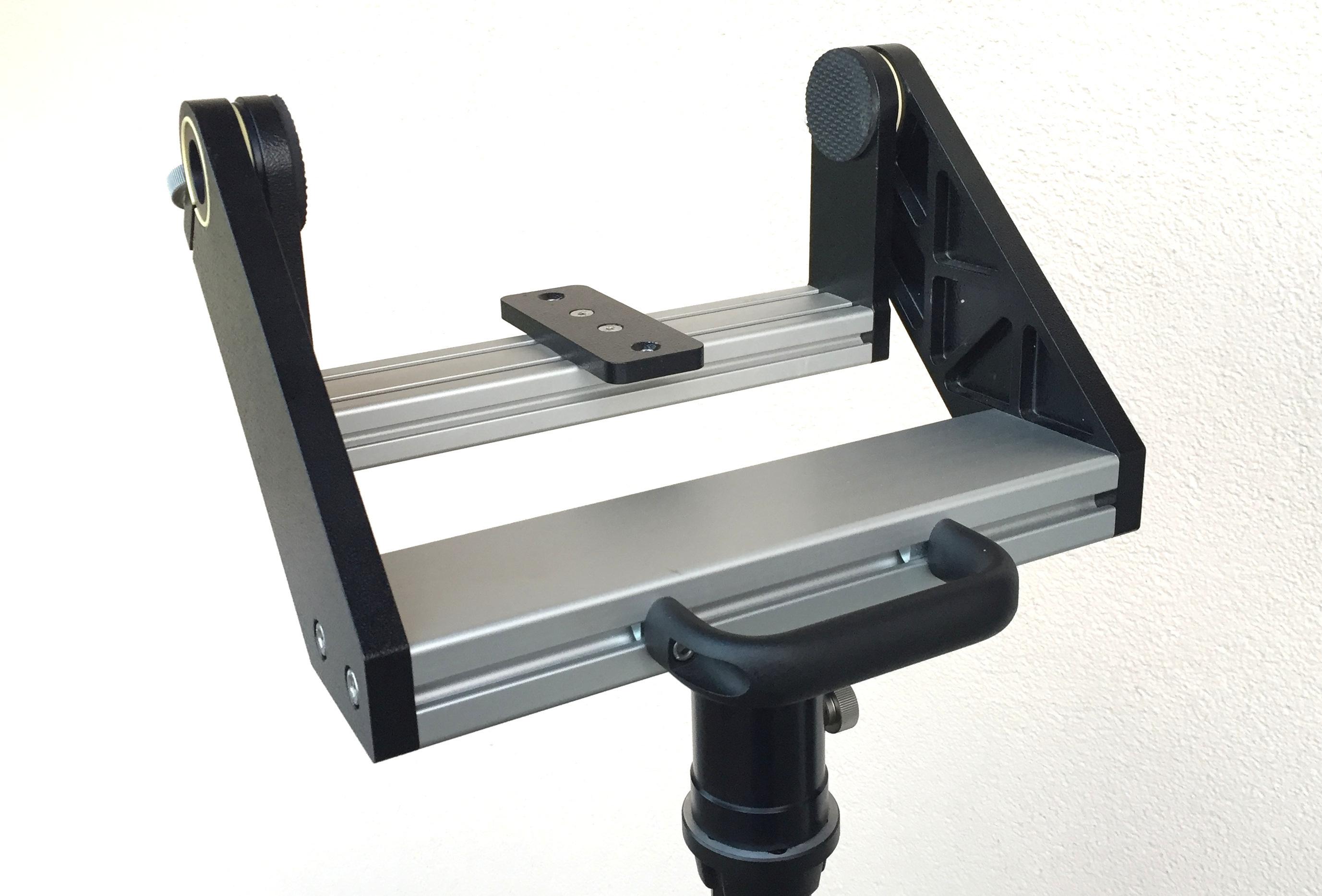 360° horizontaler Schwenkbereich. Freies Schwenken bis in den Zenit. Ruckelfrei und schwingungsarm.