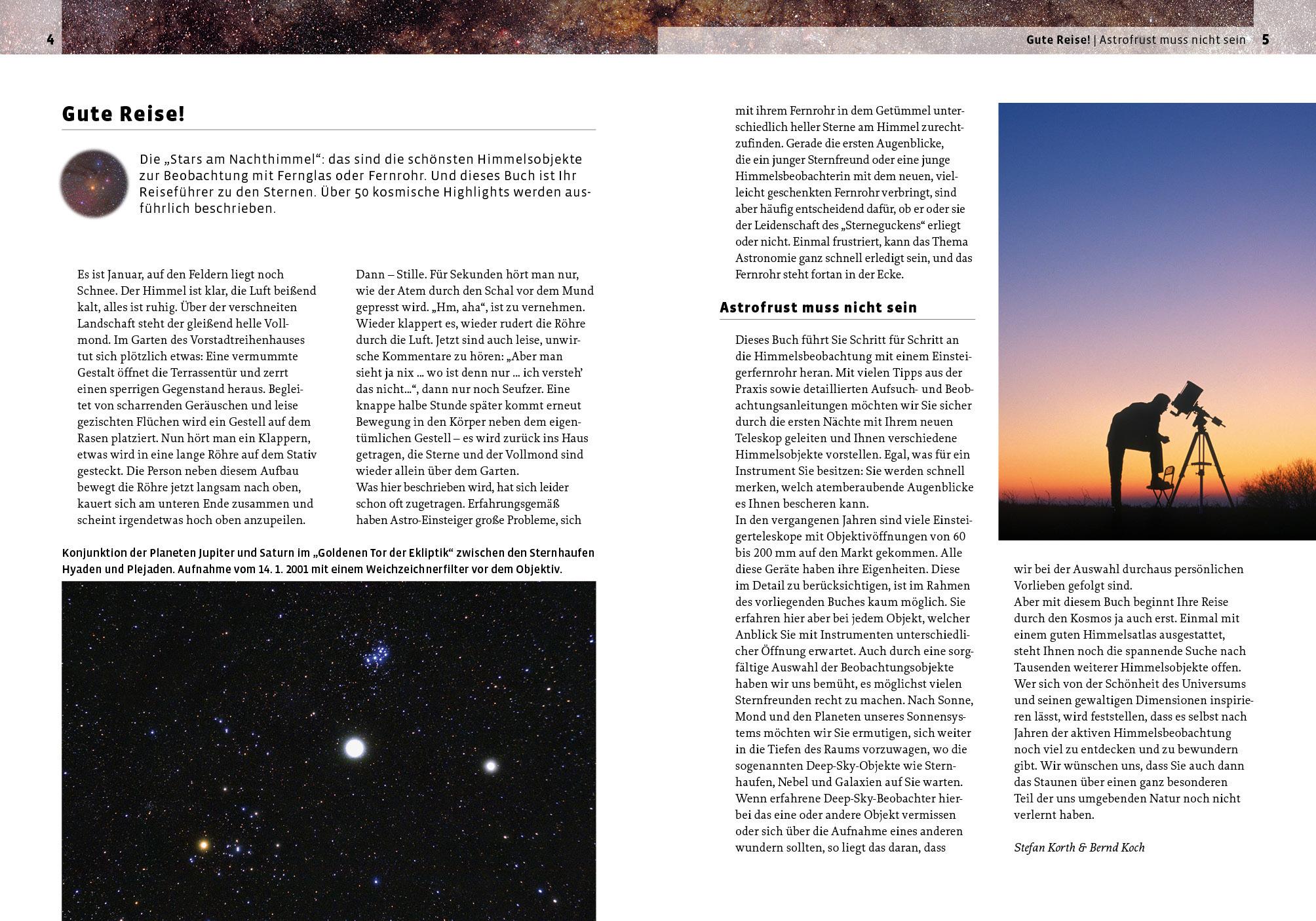 Stars am Nachthimmel: Der sichere Wegweiser zu den 50 schönsten Himmelsobjekten