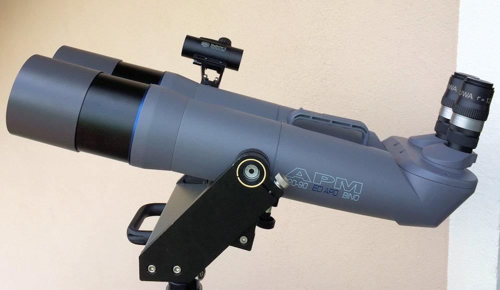 Seitliche Montage am 120 mm APM 90° Großfernglas