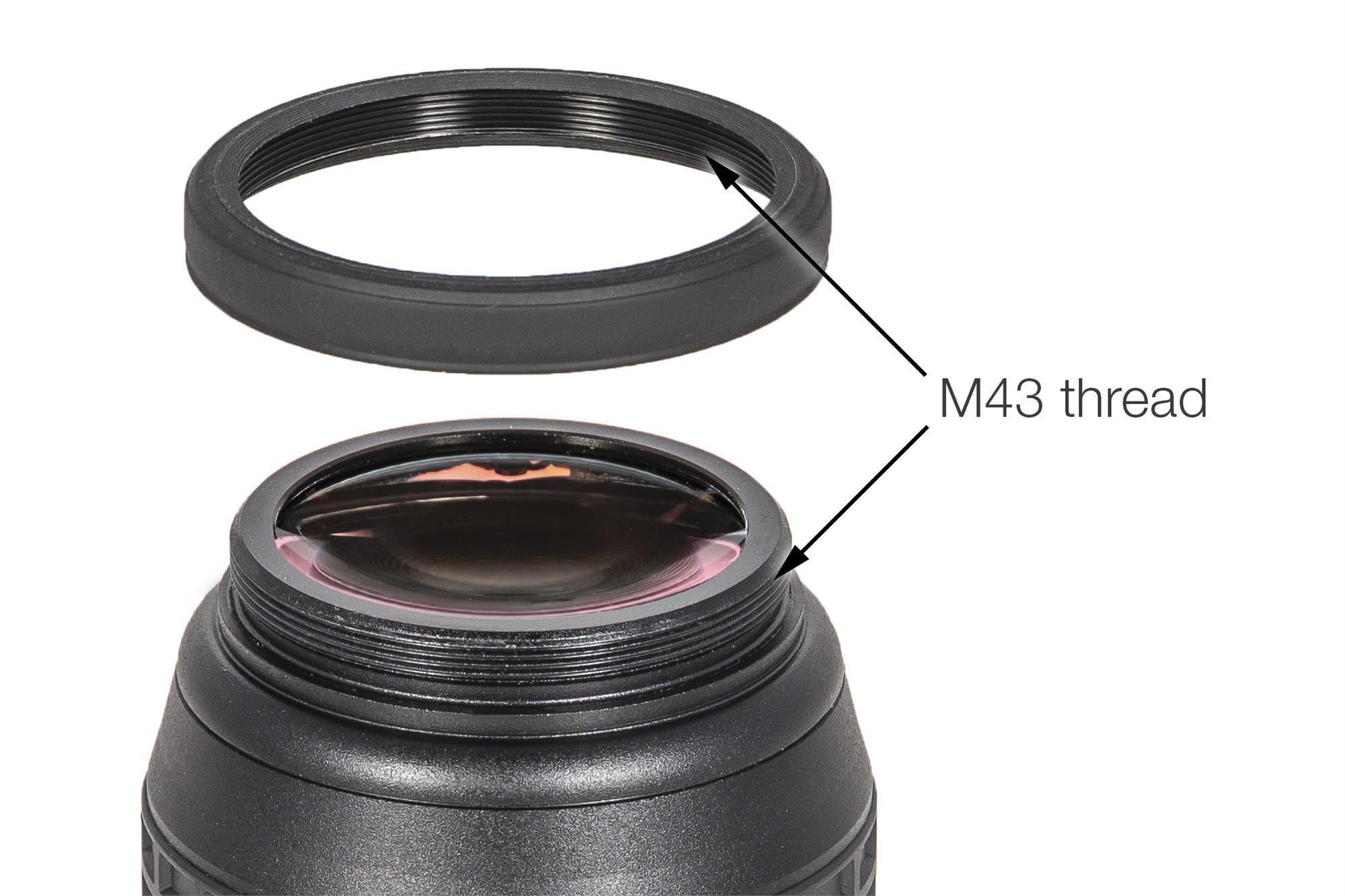 M43 Verlängerung (M43/M43) zur Augenabstand-Verlängerung oder den Kamera-Anschluss