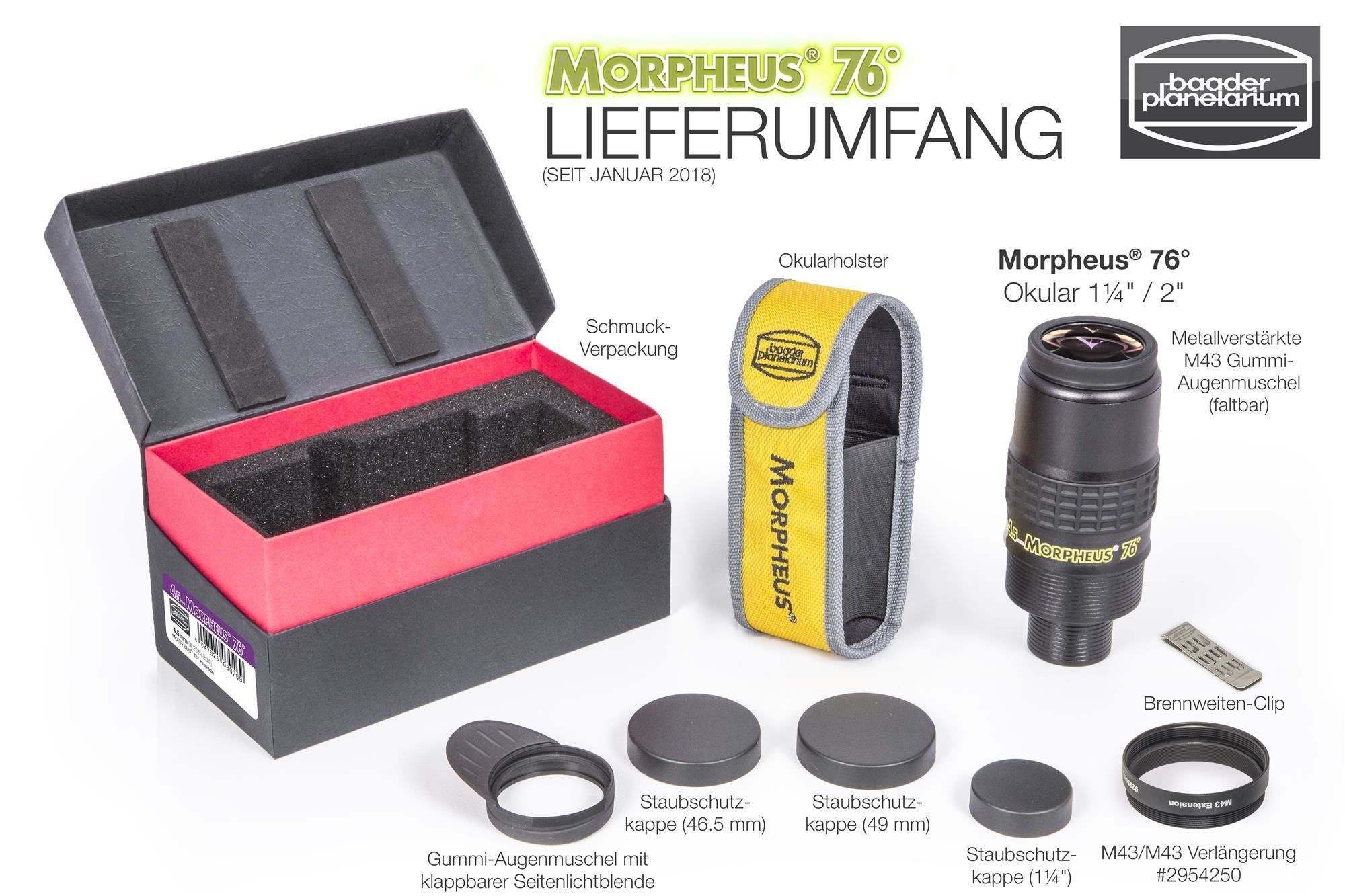 Gesamter Lieferumfang pro Morpheus-Okular