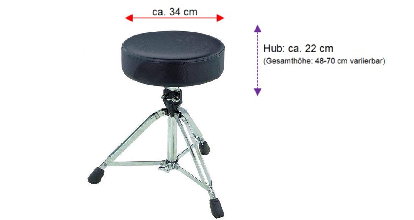 Astrostuhl höhenverstellbar bis 70 cm metall