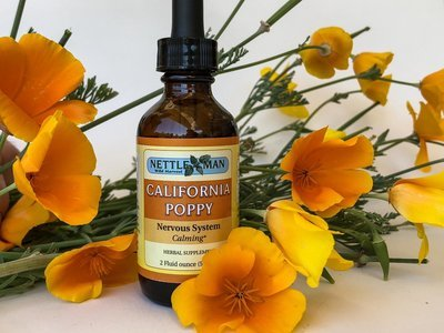 California Poppy Tincture (1 oz & 2 oz)