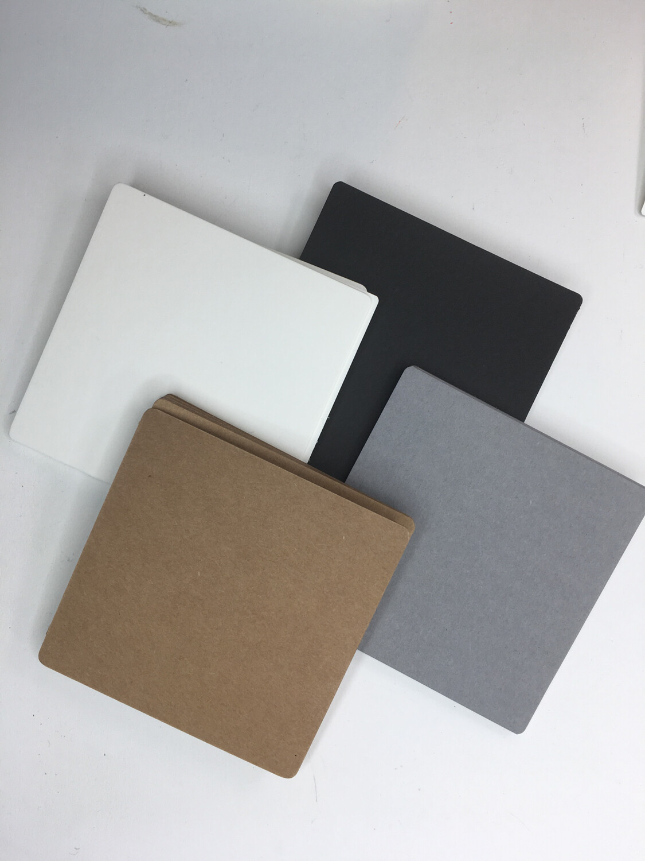 "Multi Color Tile pack Square 3 1/2"" -14 Brown, 14 Gray, 14 White, 14 Black"