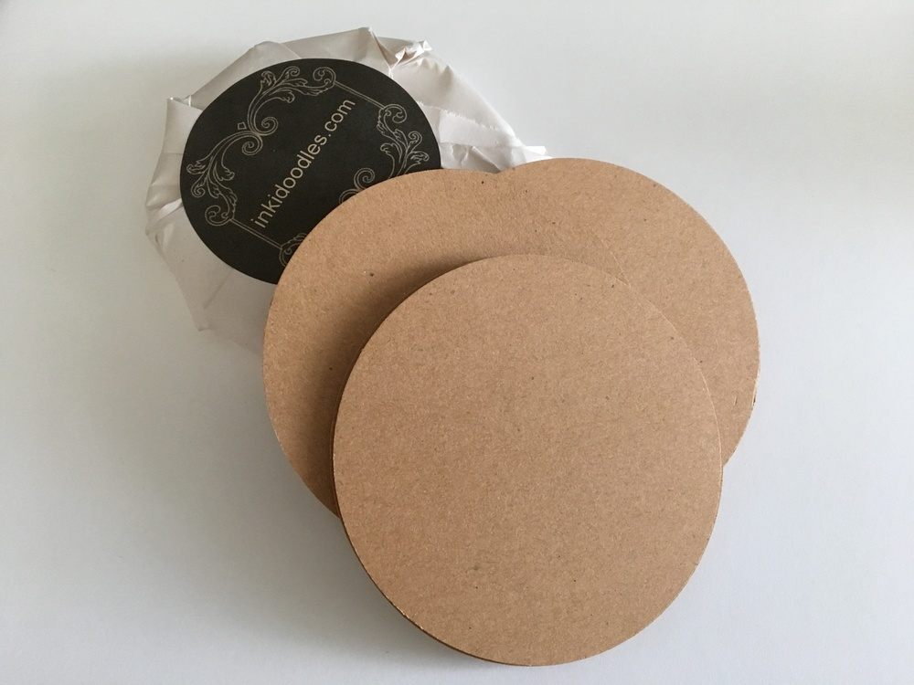 """30--3 1/2"""" Round Brown Tiles  65# Premium Smooth Texture Acid and Lignin Free"""