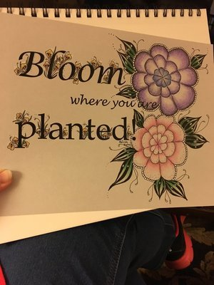 Bloom where you are planted! Down loadable template.