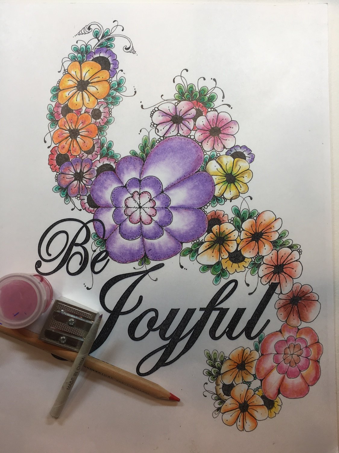 Be Joyful Ready to Color Art