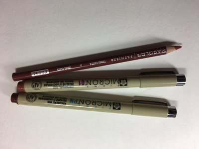 Shades of Brown pen and Pencil Set