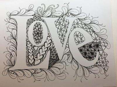 Love Tangle Template