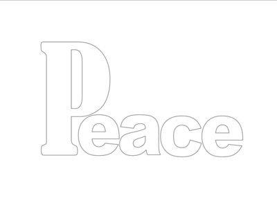 Peace Tangle Template