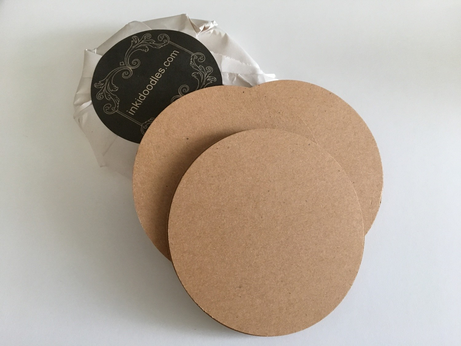 "30--3 1/2"" Round Brown Tiles  65# Premium Smooth Texture Acid and Lignin Free"