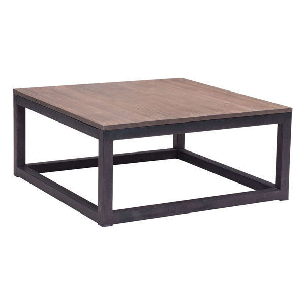 Civic Center Industrial Modern Square Coffee Table 98122-EB
