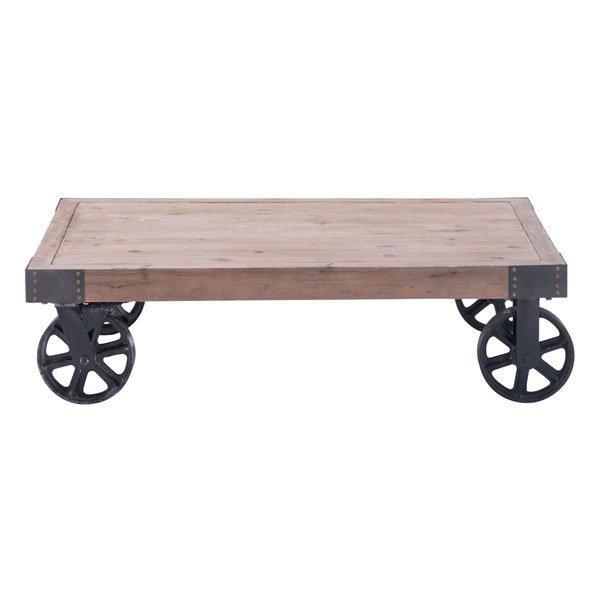 Barbary Coast industrial cart Coffee Table