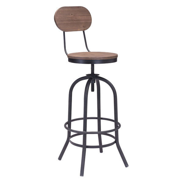 Twin Peaks Industrial modern Adustable Bar Stool 98181-EB